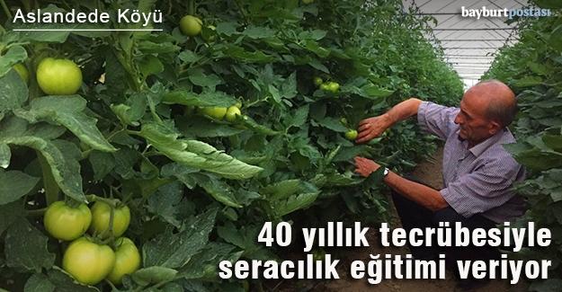 40 yıllık tecrübesiyle seracılık eğitimi veriyor
