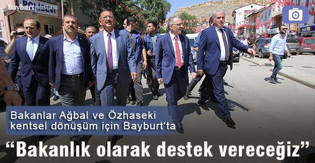 Bakanlar Ağbal ve Özhaseki Bayburt'ta