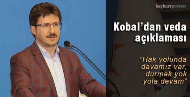 Kobal'dan veda açıklaması