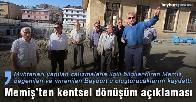 """Memiş: """"Ağbal ve Eroğlu kentsel dönüşüm için Bayburt'a gelecek"""""""