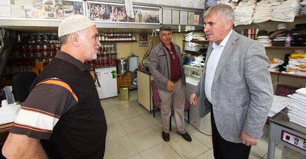 Başkan Memiş, esnaf ziyaretlerine devam ediyor