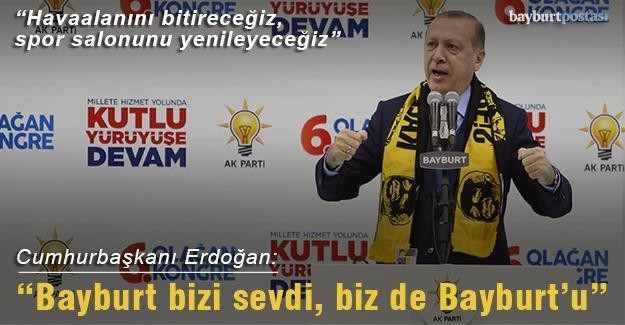 Cumhurbaşkanı Recep Tayyip Erdoğan Bayburt'ta