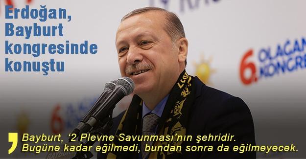 Erdoğan, AK Parti Bayburt 6. Olağan İl Kongresi'nde konuştu