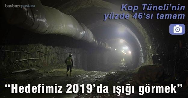 Kop Tüneli'nin yüzde 46'sı tamam