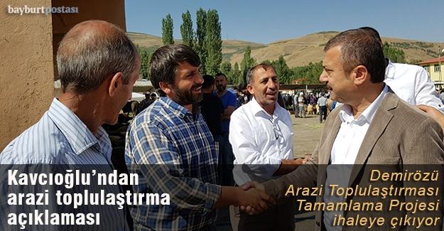 Milletvekili Kavcıoğlu'ndan arazi toplulaştırma açıklaması