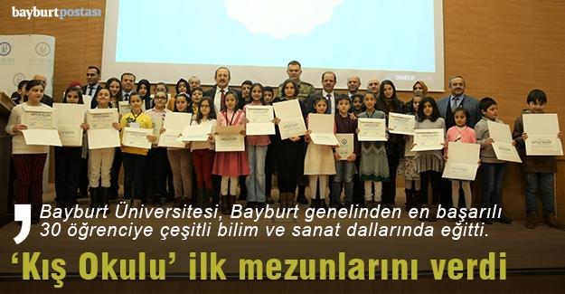 Bayburt Çocuk Üniversitesi 'Kış Okulu' ilk mezunlarını verdi