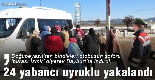 Bayburt'ta 24 yabancı uyruklu yakalandı