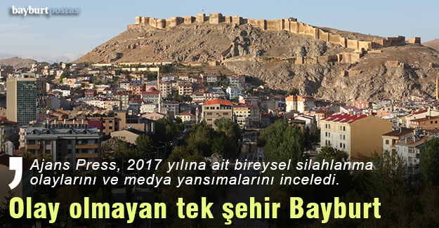 Türkiye'de olaysız tek şehir Bayburt