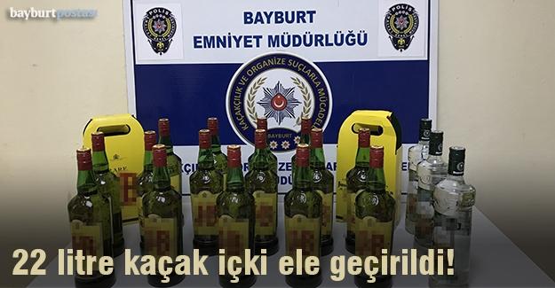 Bayburt'ta kaçak içki ele geçirildi!