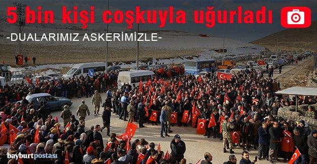 Mehmetçik Afrin'e coşkuyla uğurlandı