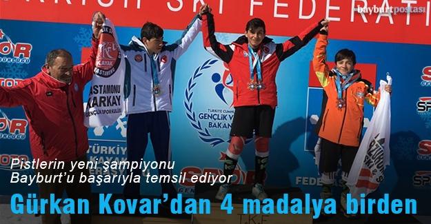 Gürkan Kovar'dan 4 madalya birden