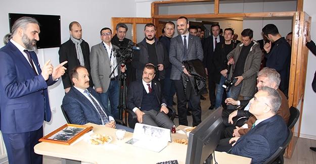 Maliye Bakanı Ağbal'dan AA Bayburt Temsilciliğine ziyaret