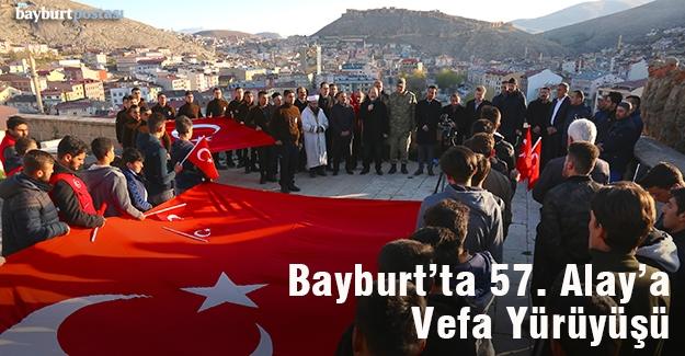 "Bayburt'ta, ""57. Alay'a Vefa Yürüyüşü"""