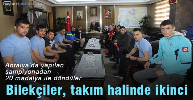 Bilekçiler takım halinde Türkiye ikincisi