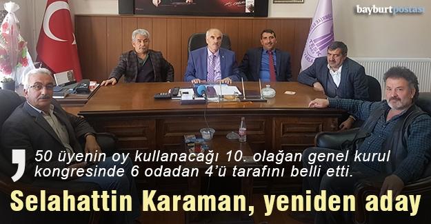Karaman, Esnaf Birliği Başkanlığına yeniden aday