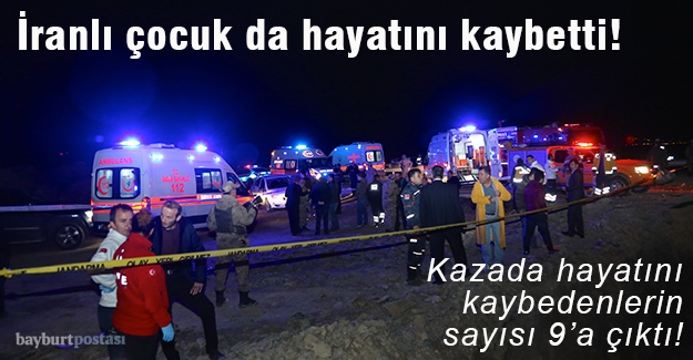 Kazada ölenlerin sayısı 9'a çıktı!
