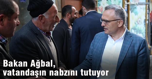 Maliye Bakanı Ağbal, vatandaşın nabzını tutuyor