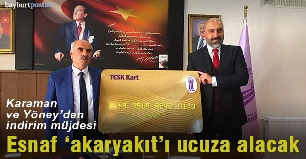 Karaman ve Yöney'den esnafa 'akaryakıt' müjdesi