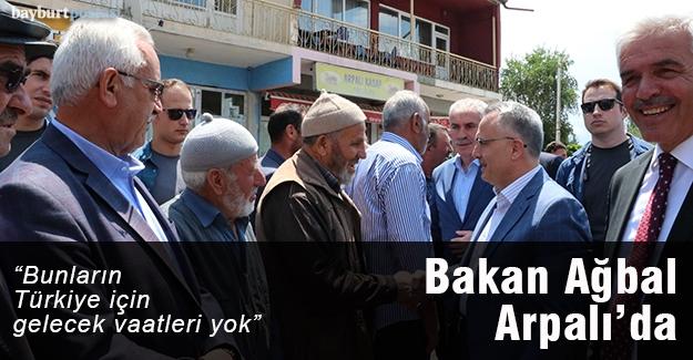 """Ağbal: """"Bunların Türkiye için bir gelecek vaatleri yok"""""""