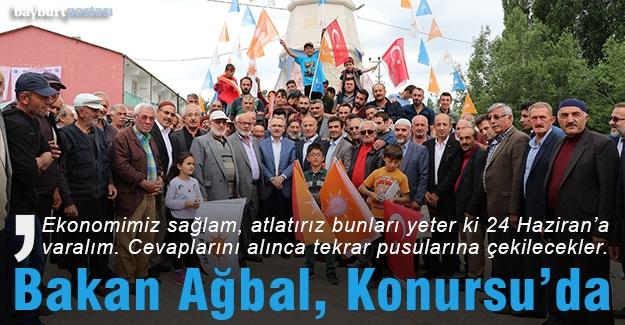 Bakan Ağbal, Konursu'da destek istedi