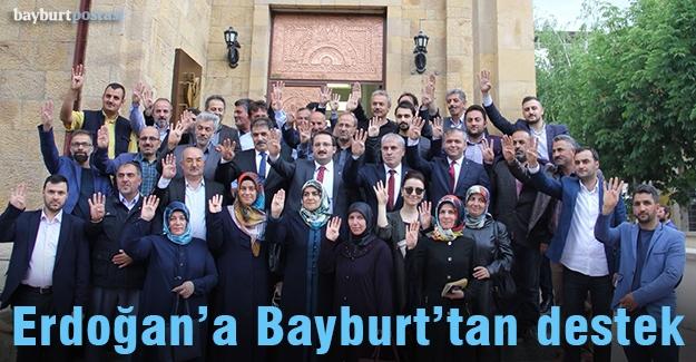 Erdoğan'ın seçim kampanyasına Bayburt'tan bağış desteği