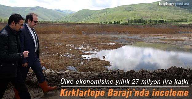 Kırklartepe Barajı inşaatında inceleme