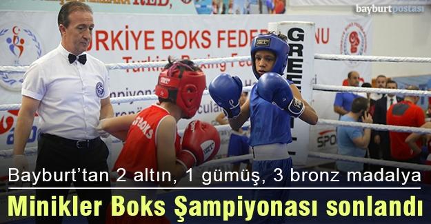 Bayburtlu minik boksörlerden 2 altın, 1 gümüş, 3 bronz madalya