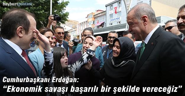 """Erdoğan: """"Ekonomik savaşı başarılı bir şekilde vereceğiz"""""""