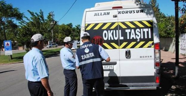 7 okul servisine 2 bin 634 lira idari para cezası