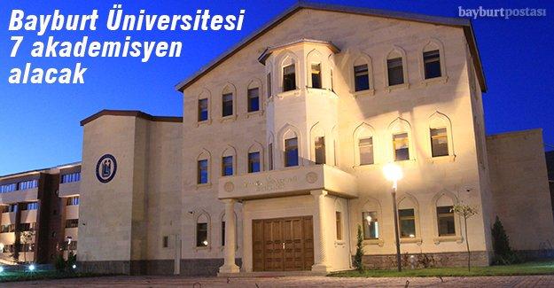 Bayburt Üniversitesi öğretim üyesi alacak