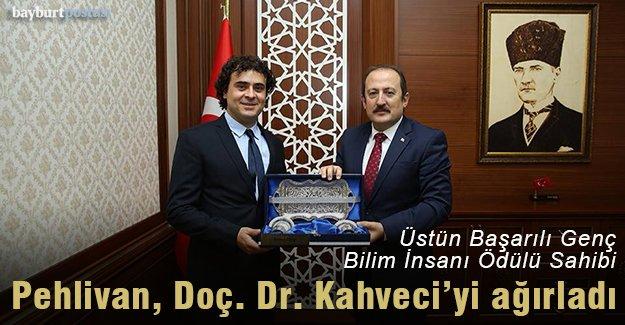 Vali Pehlivan, Doç. Dr. Kahveci'yi ağırladı