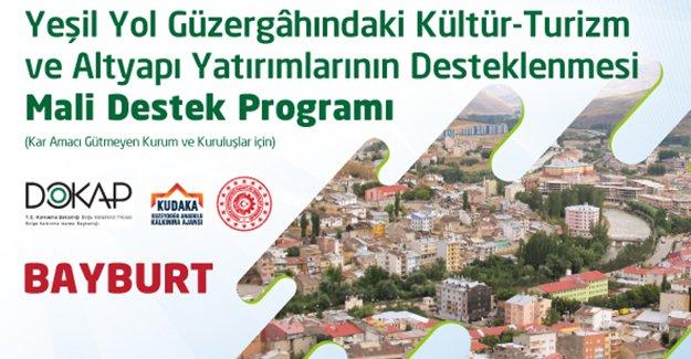 """""""Aydıntepe Yeşil Yol İle Şenleniyor"""" projesine destek"""
