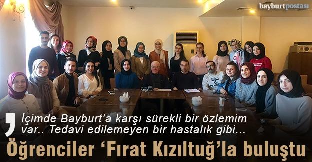 Bayburtlu üniversite öğrencileri Fırat Kızıltuğ'la buluştu