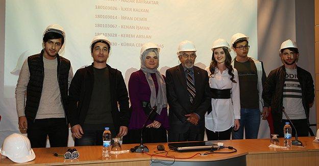 Geleceğin inşaat mühendisleri 'Baret' giydi