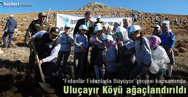 """Uluçayır köyünde """"Fidanlar Fidanlarla Büyüyor"""" projesi"""