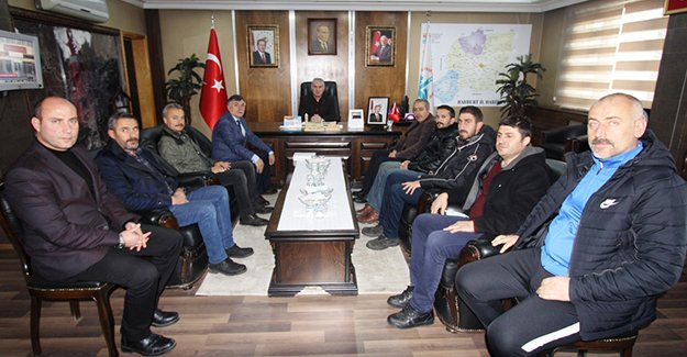 Amatör Spor Kulüplerinden Başkan Memiş'e ziyaret