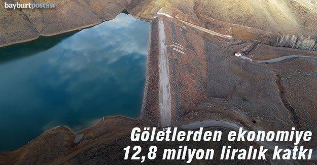 Göletlerden ekonomiye 12,8 milyon liralık katkı