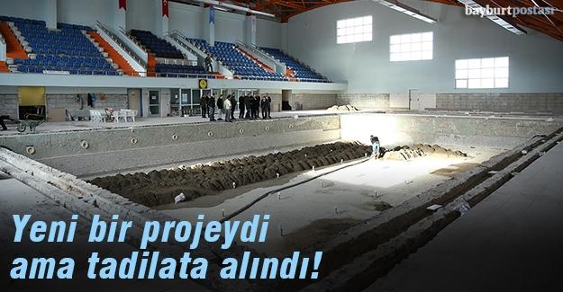 Yarı Olimpik Yüzme Havuzu'nda tadilat