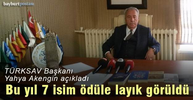 Türk Dünyasına Hizmet Ödülü, bu yıl 7 isme verilecek