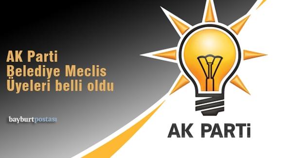 AK Parti Belediye Meclis Üyeleri
