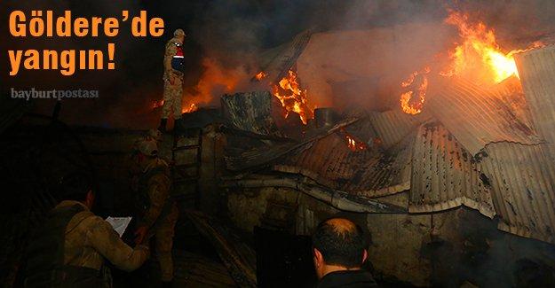 Bayburt'ta yangın