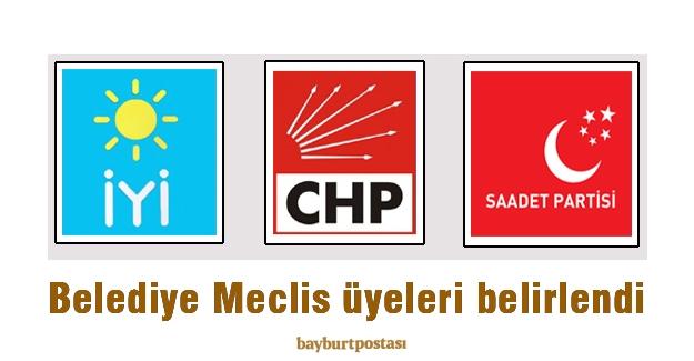 CHP, İyi Parti ve Saadet Partisi Belediye Meclis Üyeleri