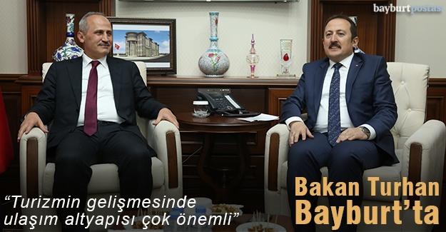 Ulaştırma ve Altyapı Bakanı Mehmet Cahit Turhan Bayburt'ta