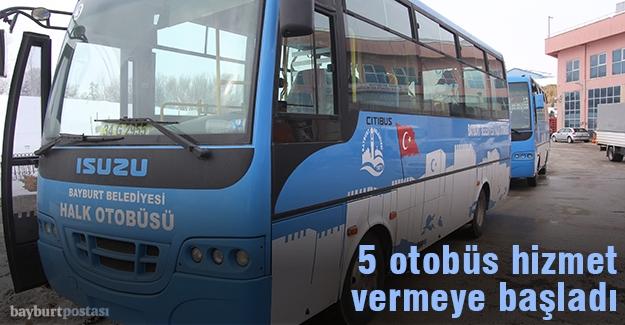 5 Adet Halk Otobüsü hizmete başladı
