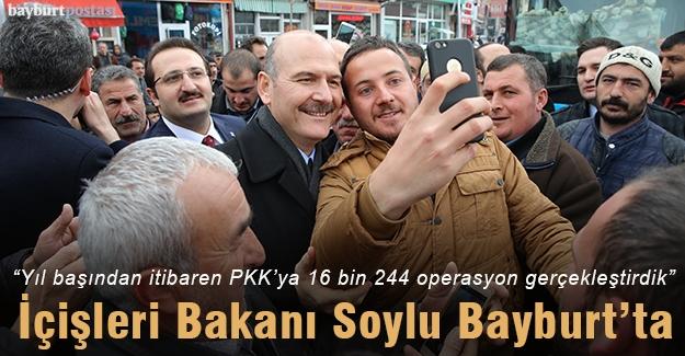 İçişleri Bakanı Süleyman Soylu Bayburt'ta
