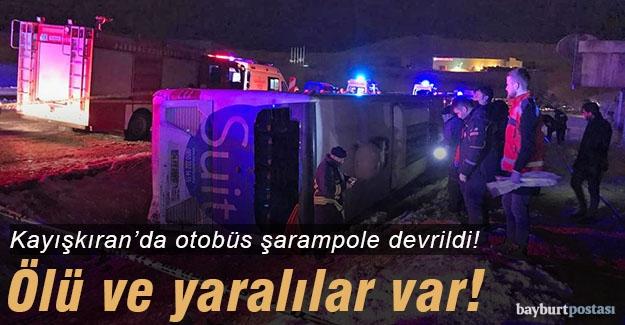 Kayışkıran'da yolcu otobüsü şarampole devrildi: 2 öü!