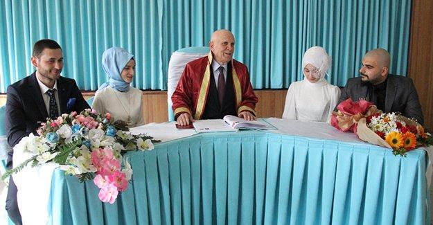 Başkan Pekmezci, ilk nikahını kıydı