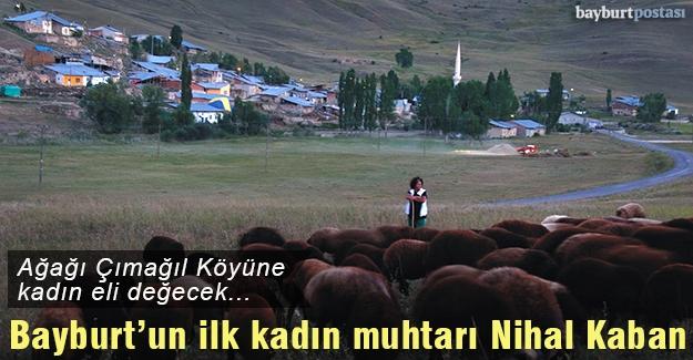 Bayburt tarihinin ilk kadın muhtarı Nihal Kaban