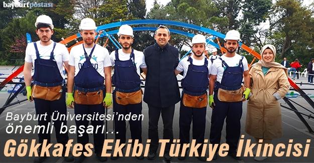 Bayburt Üniversitesi Gökkafes Ekibi Türkiye ikincisi