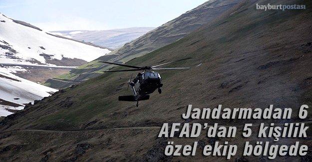 Jandarmadan 6, AFAD'dan 5 kişilik özel ekip bölgede